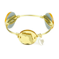 Moon & Lola xx Bourbon & Boweties Florida Mirrored Gold Bangle