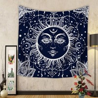 2018 Hot Sale Bohemia Tapestry Psychedelic Celestial Indian Sun Tapestry Wall Hanging Throw Bohemian Door Curtain