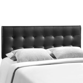 Emily King Faux Leather Tufted Headboard