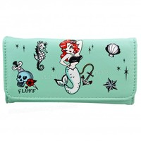 Fluff Molly Mermaid Tri Fold Wallet