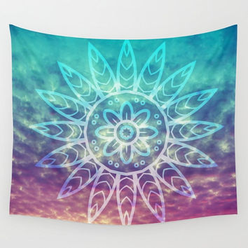 Sunset Sky Mandala Wall Tapestry Yoga Meditation Mandala Wall Hanging