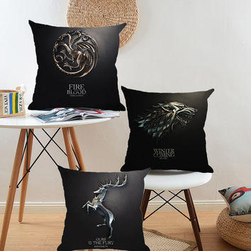 Cushion Cover Game Of Thrones Style Cotton Linen Pillowcase Car Sofa Home Decorative Throw Pillows Funda Cojin Housse de coussin