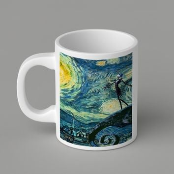 Gift Mugs | Jack Skellington Starry Night   Ceramic Coffee Mugs