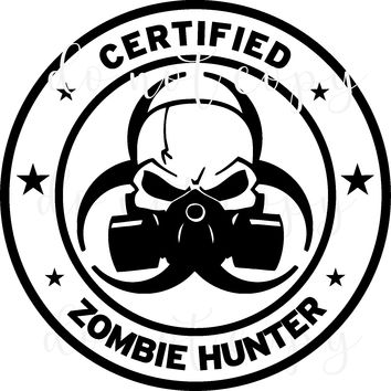 Certified Zombie Vinyl Graphic Decal