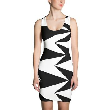 Geometric pattern dress design, all purpose party, work  Cut & Sew Dress