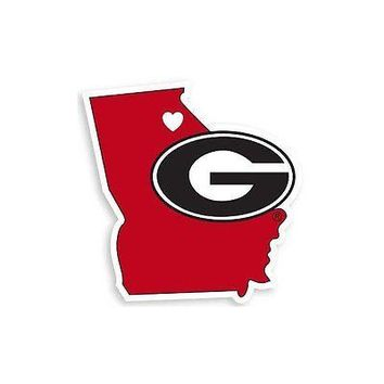 NCAA Georgia Bulldogs Home State Auto Car Window Vinyl Decal Sticker
