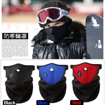 Bike Motorcycle Face Mask Snowboard Sport Winter Warmer Snowboarding Face Shield New Black Red Blue for Cross-country skiing