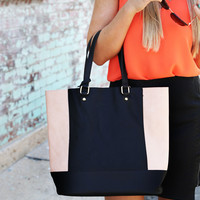 The Shopper {Black + Tan}