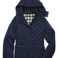Girl's Burberry 'Tiggsmoore' Diamond Quilted Jacket,