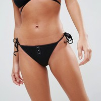 ASOS Mix and Match Tie Side Bikini Bottom with Hook and Eye at asos.com