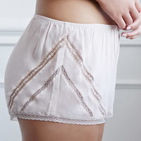 Lace-Paneled PJ Shorts