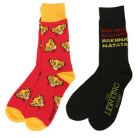 Disney The Lion King Hakuna Matata Crew Socks 2 Pack