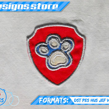 Paw Patrol Applique Design RYDER BADGE EMBROIDERY pattern