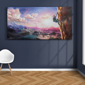 "Breath of the Wild Oil Canvas - 30"" x 60"""