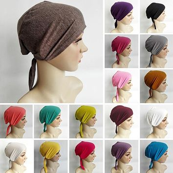 Stretchable Hijab Underscarf Cap Shawl Muslim Islim Scarf Inner Headband Hijab Caps Headwear Hats Islamic Head Wear Hat