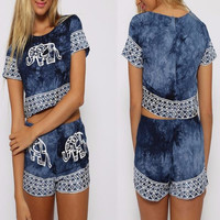 Blue Elephant Couture Two-Piece