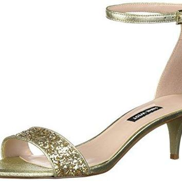 Nine West Womens Leisa Metallic Heeled Sandal