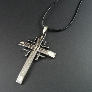 Arrival Rope Bible And Cross Necklace Pendant