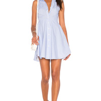BCBGeneration Collared City Dress in Blue Combo | REVOLVE