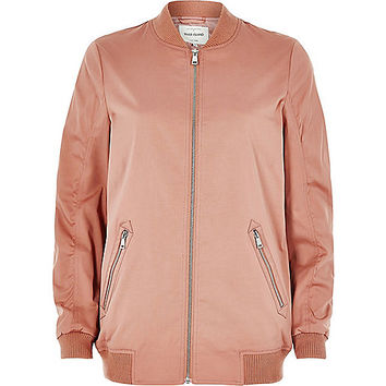 Dusty pink bomber jacket