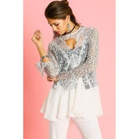 'Jaded' Lace Tunic