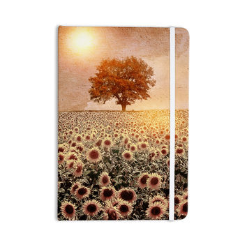 "Viviana Gonzalez ""Lone Tree & Sunflowers Field"" Sunny Nature Everything Notebook"
