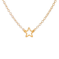 Tiny Star Oultine Necklace