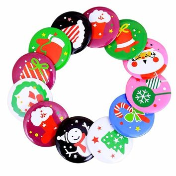 3PC Christmas Decorative Pendate Badge Brooch Badge