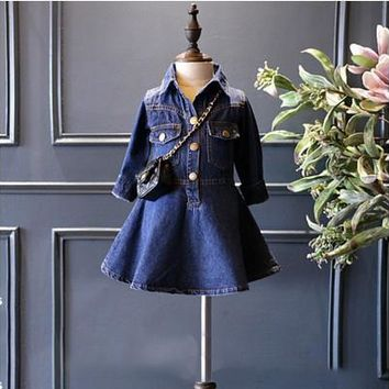 autumn clothes winter baby girls dress denim baby clothes children girls party dress infant girl jacket casual costume vestidos