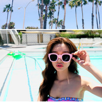Candy Color Horn-Rimmed Sunglasses