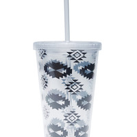 Tribal Print Reusable Tumbler | Wet Seal