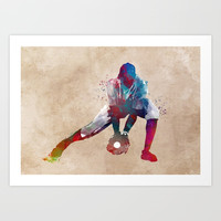 Baseball player 3 #baseball #sport Art Print by jbjart