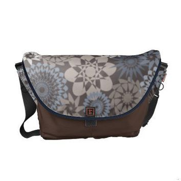 Geometric Flowers Messenger Bag from Zazzle.com