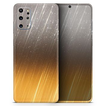 Scratched Gold and Silver Surface - Skin-Kit for the Samsung Galaxy S-Series S20, S20 Plus, S20 Ultra , S10 & others (All Galaxy Devices Available)