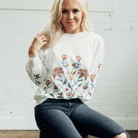 Floral Cream Sweatshirt