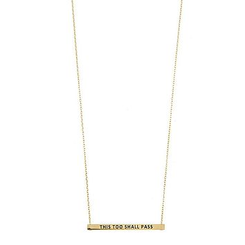 This Too Shall Pass Bar Necklace, Womens Fashion Jewelry Necklaces
