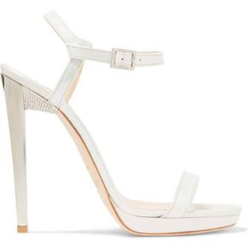 Claudette embellished leather sandals | JIMMY CHOO | Sale up to 70% off | THE OUTNET
