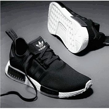 ADIDAS NMD Fashion Casual  Women Men Running Sport Casual Shoes Sneakers Black G