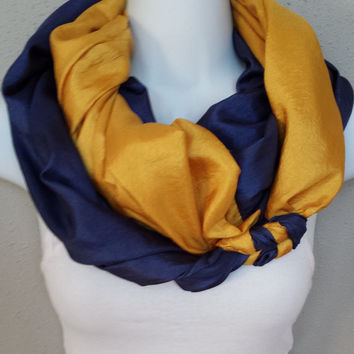 Double Loop Milwaukee Brewers Scarf Braided Infinity Scarf Brewers Infinity Scarf MLB Scarf Baseball Scarf Sports Scarf Braid Padres Scarf
