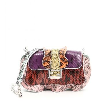 Fendi Borsa Micro Baguette Elaphe Multicolor - Talent