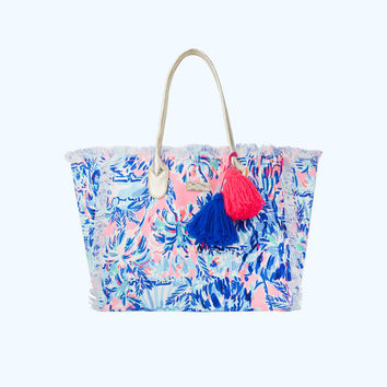 Gypset Frayed Beach Tote Bag   27392-multicabanacocktailaccessories   Lilly Pulitzer
