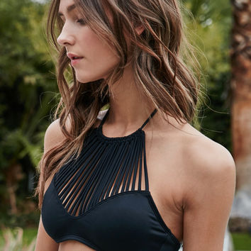 LA Hearts Macrame Halter Cropped Bikini Top at PacSun.com