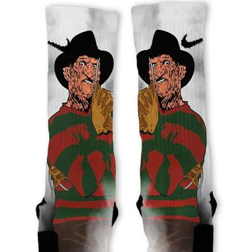 Freddy Halloween Custom Nike Elite Socks