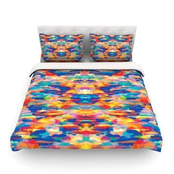 "Kathryn Pledger ""Cloud Nine"" Orange Multicolor Pattern Featherweight Duvet Cover"