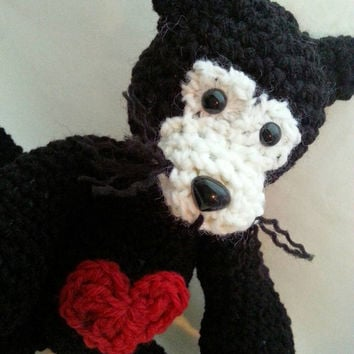 Crochet Plush Black Cat Amigurumi Children's Toy
