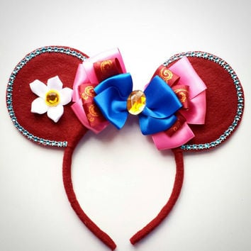 Custom made Mulan inspired Minnie Mouse Ears