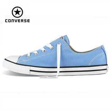 Original Converse All Star shoes Dainty sneakers women low powderblue canvas shoes for