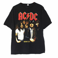 Vintage ACDC Band Concert T-Shirt Tee | Adult Size Large | Retro, Rock and Roll Music Retro Highway to Hell