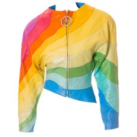 S/S 1990 Thierry Mugler Rainbow Leather Jacket