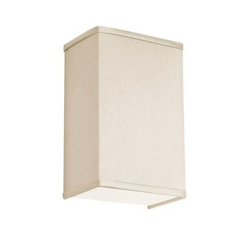 Dianolite Decorative 1 Light Wall Sconce with Italian Linen Shade and Satin Chrome Finish